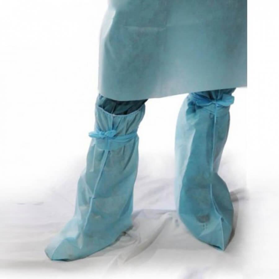Одноразовые медицинские защитные бахилы – высота 25см, двойная подошва
